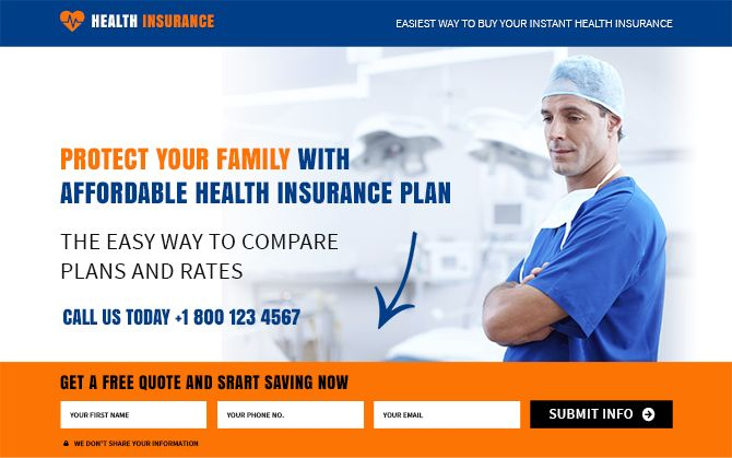 Increase conversion of your health insurance policy by using our converting health insurance landing page design templates on affordable price.