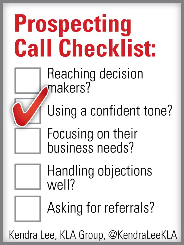 Sales Prospecting Checklist for reaching decision-makers.