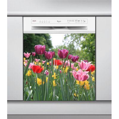 Sticker Lave Vaisselle tulipes, création Imprim'Déco, magasin vente en ligne stickers de décoration