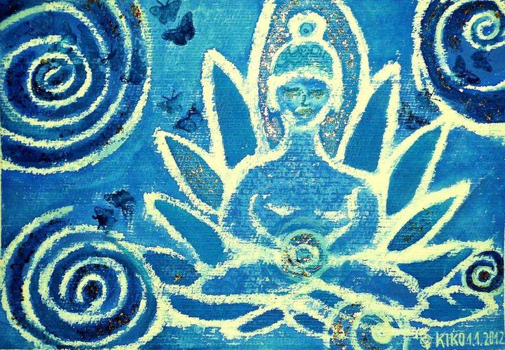Kirsten Kohrt - Blue force Pastell/watercolor... Credit: KIRSTEN KOHRT  (Click to Support Artist)