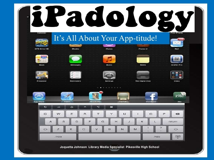 iPadology - love the list of the difference in skilled, literate, and fluent iPad-using teachers!