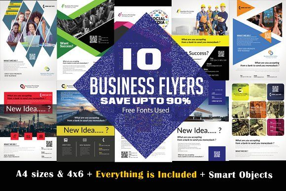 10 Business Flyer Bundle Vol: 02 by Design Up on @creativemarket