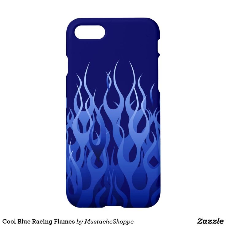 Cool Blue Racing Flames