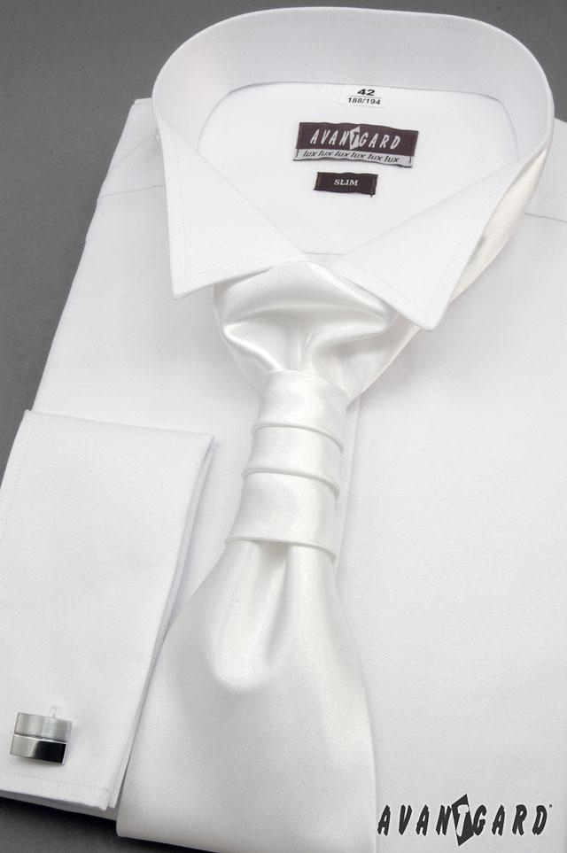 Svatební bílá inspirace - fraková košile s regatou AVANTGARD EXCELENT a manžetovými knoflíčky