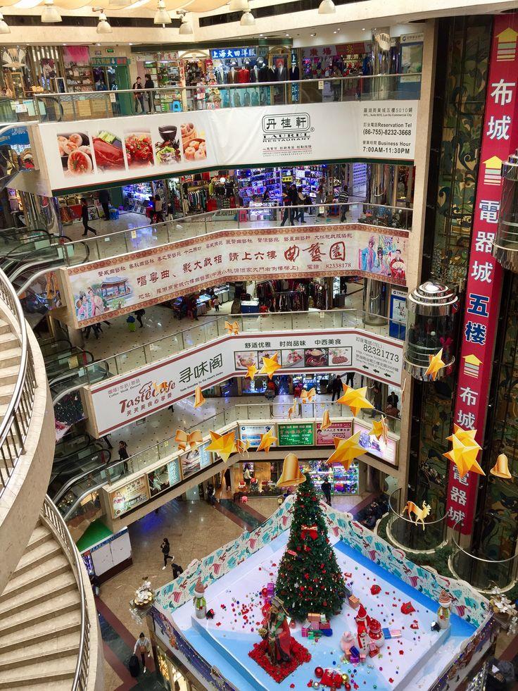 Bill ✔️ A popular shopping centre (Luohu / Lo Wu), Shenzhen SAR, Guangzhou region, Southern China.      Bill Gibson-Patmore.  (iPhone image, curation & caption: @BillGP). Bill😄 🇳🇿✔️.