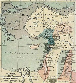 The Second Crusade was announced by Pope Eugene III, and was the first of the crusades to be led by European kings, namely Louis VII of France and Conrad III of Germany, with help from a number of other European nobles.