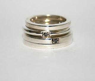 silver with black diamonds