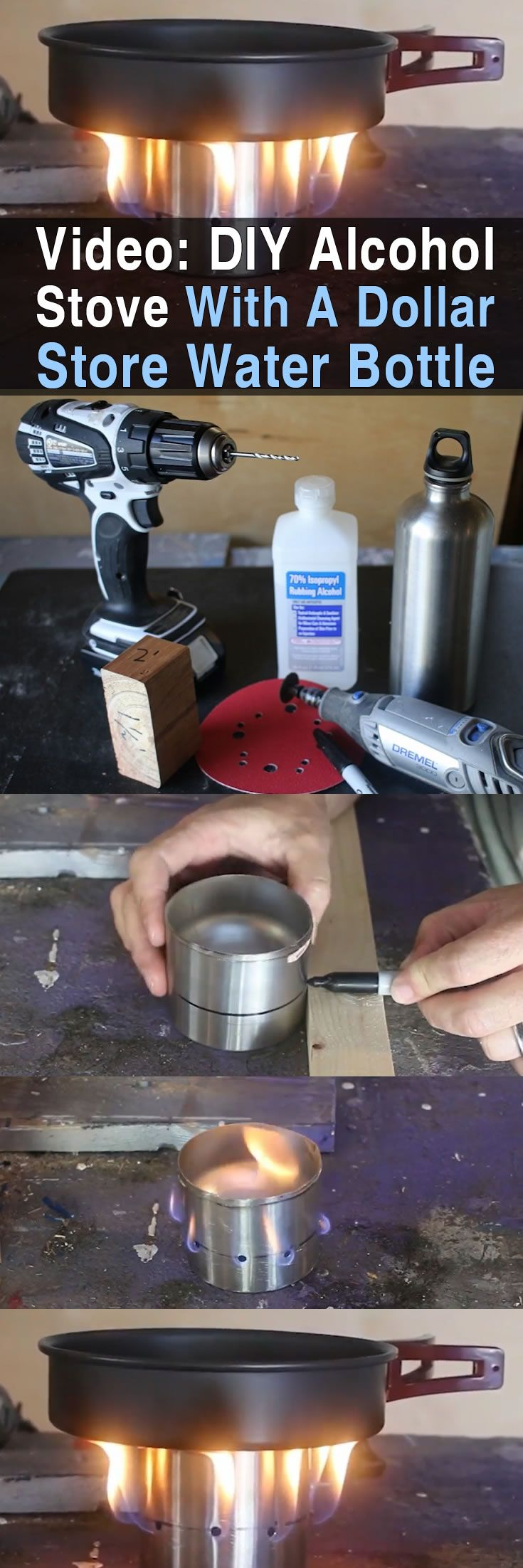 Today I want to share a really cool tutorial I found by Survivalist Prepper. This DIY alcohol stove requires a few cheap supplies and is easy to make.