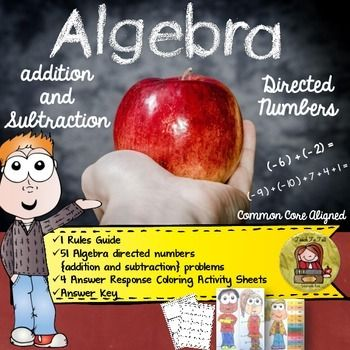 As interesting as it is, Algebra can sometimes be frustrating for students, especially when they dont have a sound grasp of the basics. Teach your students the basics of addition and subtraction of directed numbers with this fun resource.  https://www.teacherspayteachers.com/Product/ALGEBRA-DIRECTED-NUMBERS-ADDITION-AND-SUBTRACTION-1905074 algebra | directed numbers | order of operations | number and algebra | operations and algebraic thinking | expressions and equations