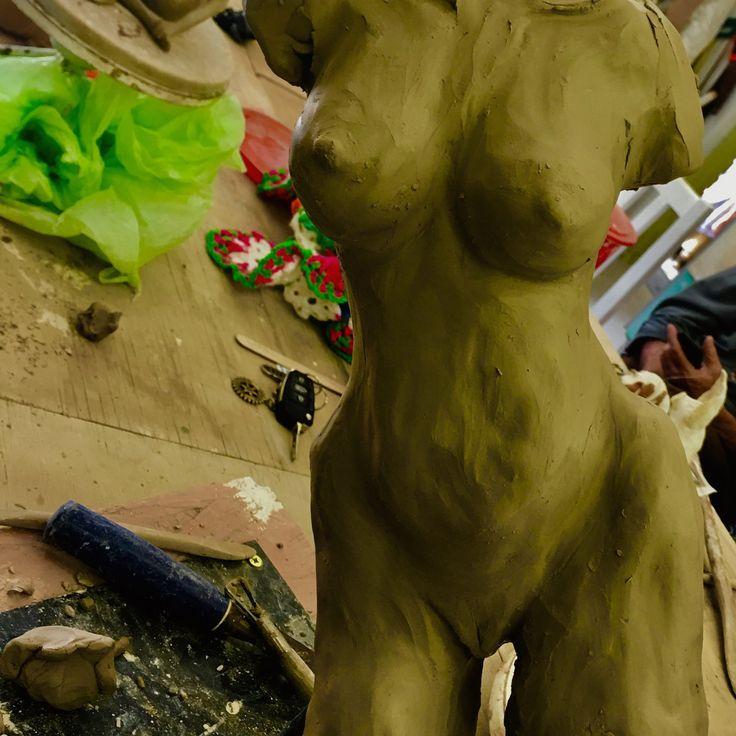 Torso in clay