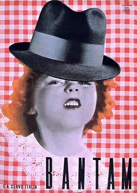 Erberto Carboni, 1936    Bantam hat advertising for Studio Boggeri