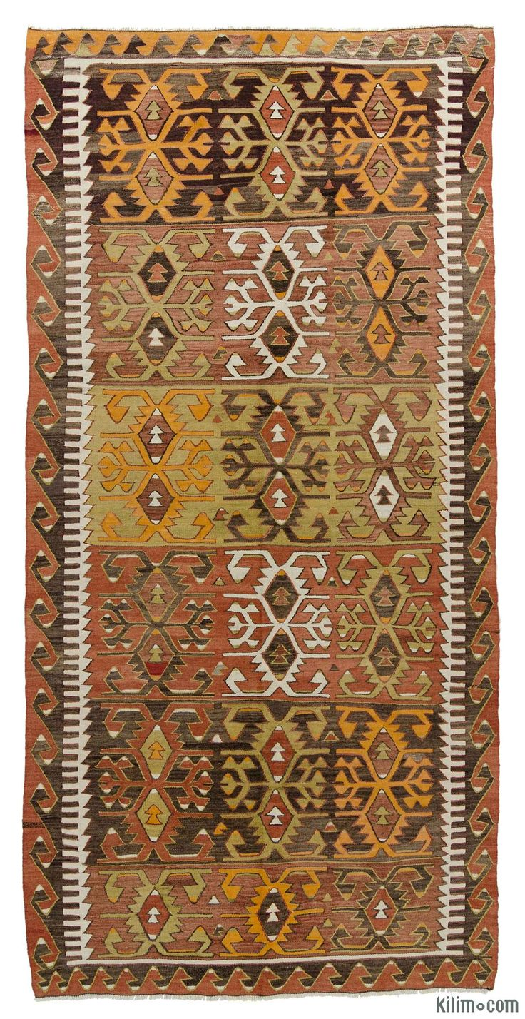 K0015993 Vintage Konya Kilim Rug | Kilim Rugs, Overdyed Vintage Rugs, Hand-made Turkish Rugs, Patchwork Carpets by Kilim.com