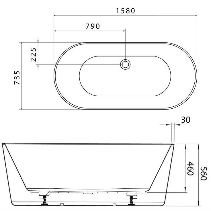 Caroma_Aura1600_ Freestanding Bath_PBLD