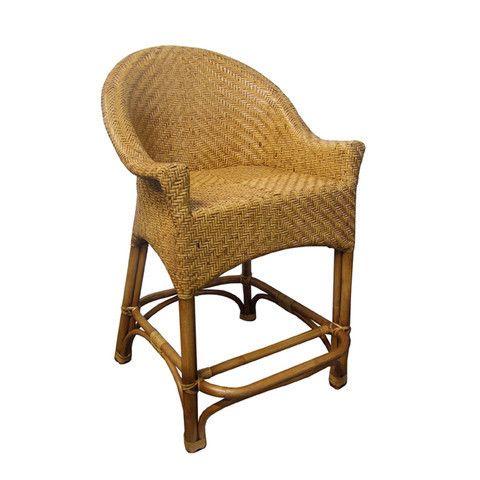 Raffles Bar Stool #barstool #furniture #interiordesign #cane #comfort #homedecor