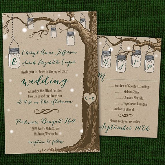 Rustic Hanging Mason Jar Same-Sex/Gay Wedding by InviGAYtions