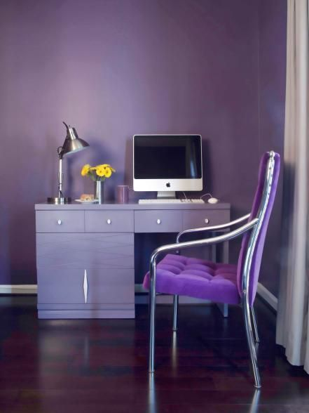 While the dark, plummy hue of Italian eggplant lends itself well to late fall decor and tabletops, we're loving the brighter hue that long, skinny Japanese eggplant varieties bring to the table. See how the vibrant color pops on this upholstered desk chair? Inspiration:More Eggplant-Inspired Decor