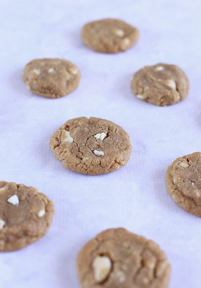 Gluten Free Peanut Butter & White Choc Chip Cookies - Love Swah