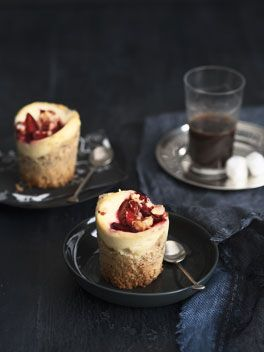 Plum and ricotta crumble cakes | Gourmet Traveller