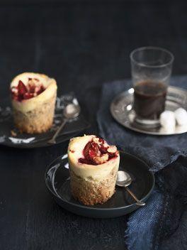 plum and ricotta crumble cakes.: Crumble Cupcakes, Ricotta Crumble, Cakes Cupcakes, Cakes Recipes, Cupcake Design, Crumble Cakes, Plum Ricotta, Gourmet Traveller, Australian Gourmet