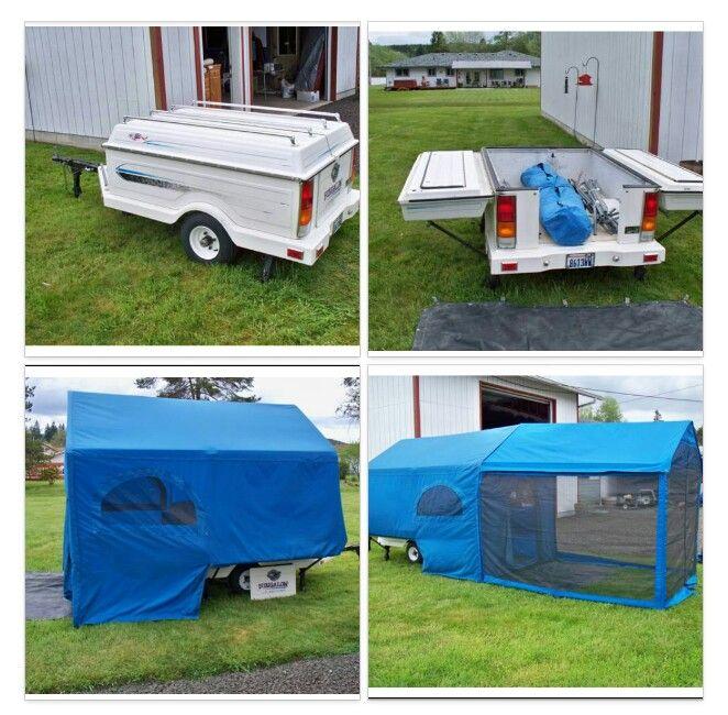 Sweet motorcycle tent trailer #TrailerTentrental #rentatent #trailertent http://www.rentatrailertent.co.uk/