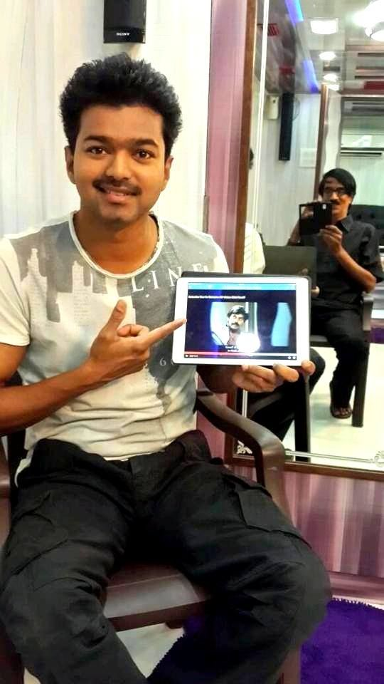 Our Ilayathalapathy Vijay has seen Sathuranka Vettai first look teaser and praised that the teaser has come out good and he also wished the Sathuranka Vettai team.