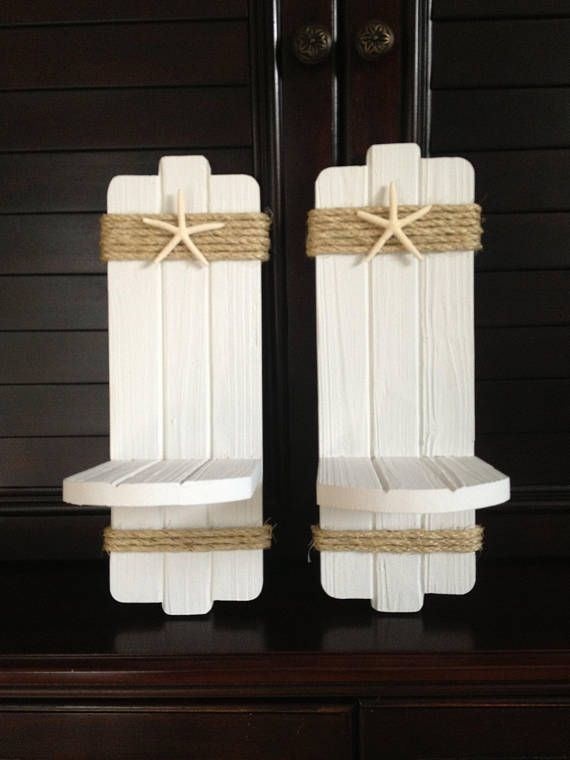 Pin By Ana Kodak On Disenos Ana In 2020 Rustic Coastal Decor Wood Sconce Candle Wall Sconces