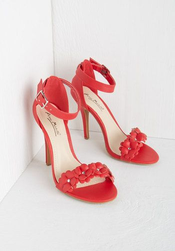 All Fleur You Heel in Crimson. These glamorous red heels catch every eye as  you