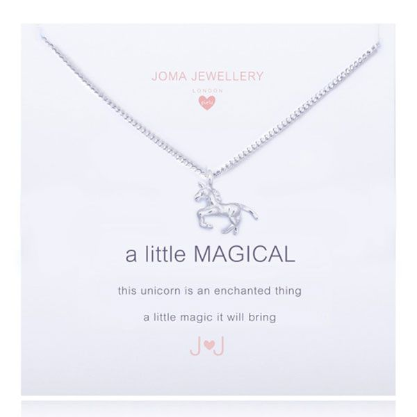 Joma Jewellery - Story - Courage - Silver Necklace With Heart and Disc Charm and Black Crystal 1x4Nw