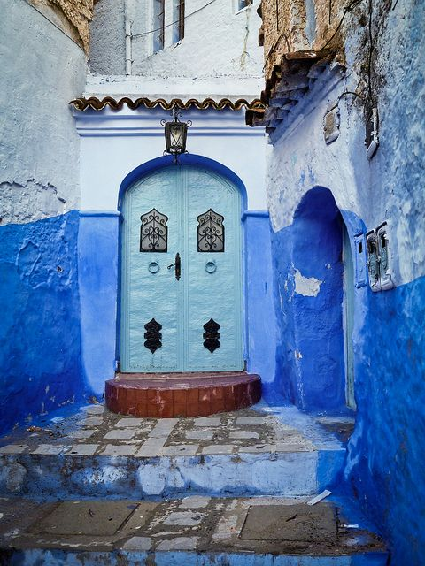 Blue: Baby Blue, Blue Offices, Offices Design, Blue Doors, Blue Wall, Colors, Lapis Lazuli, Morocco, Entrance