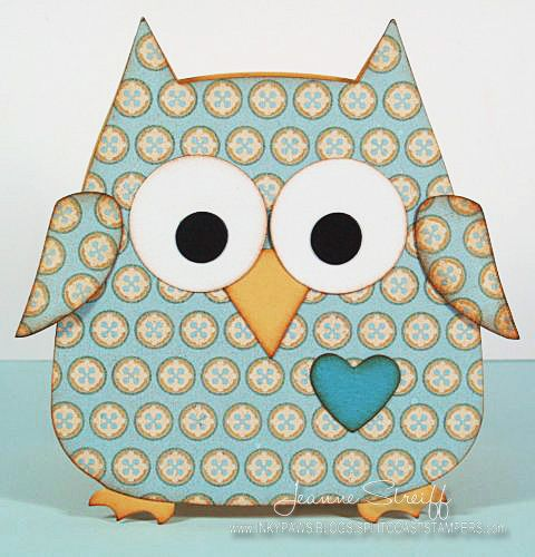 Baby Owl card...adorable...cut from a Sizzix die...