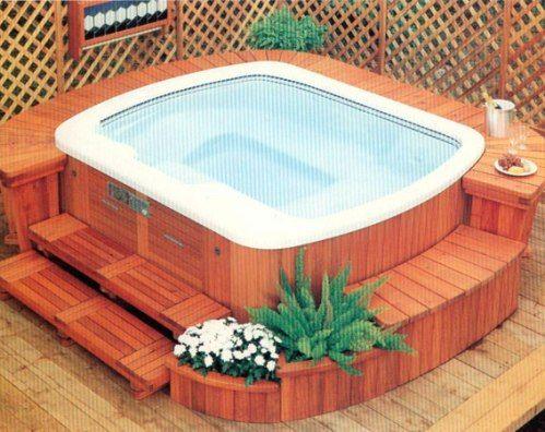 Hotspring Massagebad - Spabad med trädäck
