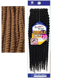 "Freetress Single Twist Large 10"" - Color 27 - Synthetic Braiding"