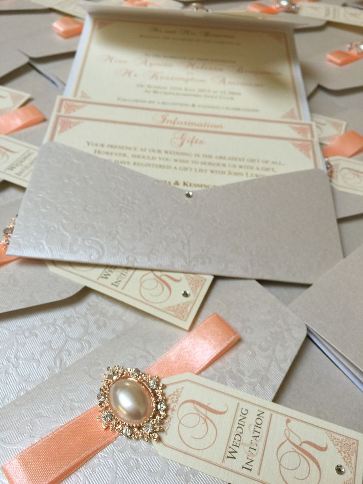 african wedding invitations uk%0A Peach Pocketfold with RSVP and inserts The Best Pocketfold Wedding  Invitations handmade by bespoke experts Perfect
