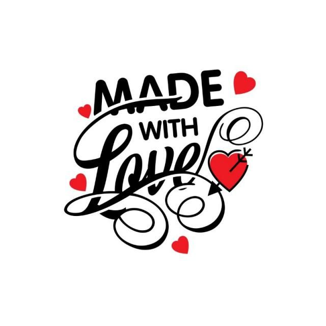 Made With Love Vector Valentine S Heart Love Png And Vector