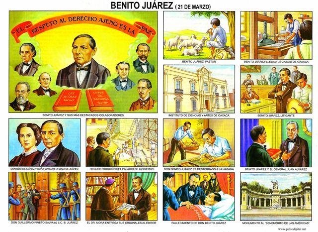 Benito Juárez – 21 de marzo [Lámina escolar]
