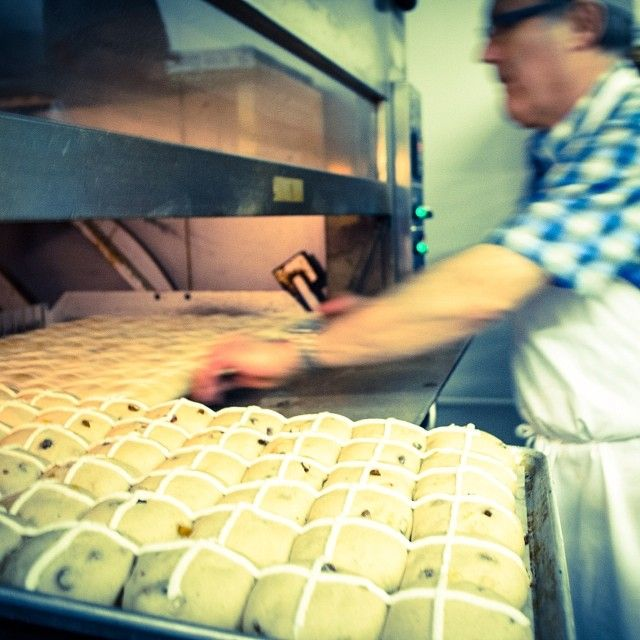 Swiss Master Baker and Master Pastry Chef, Jos, prepares hot cross buns. #yyc