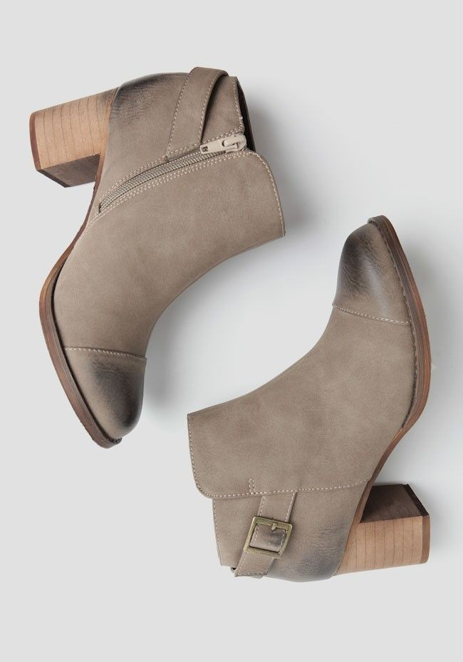 Country Ankle Boots brown grey suede casual winter