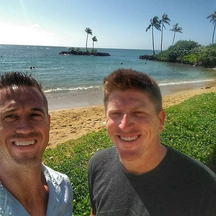 Breakfast with my friend Martin Piller at the Kahala during the Sony Open