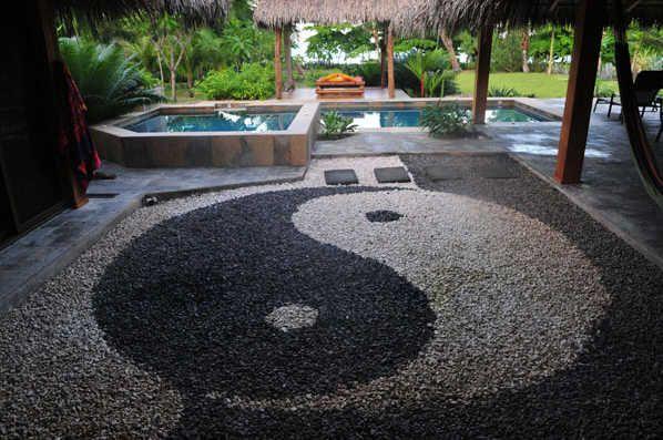 Confeccionalo t misma yin yang con piedras jardines con for Jardin yin yang