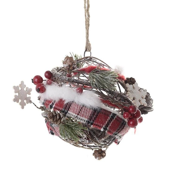 Christmas Wooden Ball - Balls - Ornaments - Christmas - SEASONAL