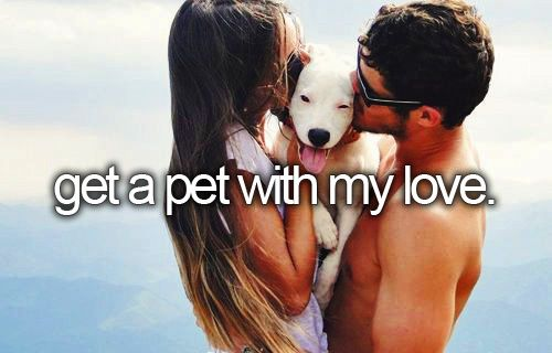 x | get a pet with my love