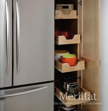 Tall Pantry with Pull-Out Drawers - Classic Accessories - Merillat