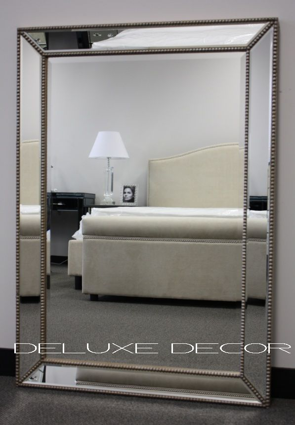 gold silver detail framed bevelled wall mirror m010 760 on wall mirrors id=62267