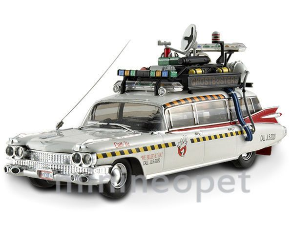 ELITE X5495 CULT CLASSIC GHOSTBUSTERS 2 ECTO 1A CADILLAC AMBULANCE 1/43 WHITE #HotWheels #Cadillac