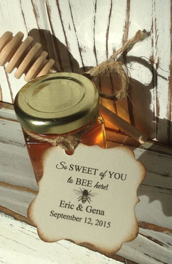 Items Similar To 24 Qty So Sweet Of You Bee Here Honey Wedding Shower Favors With Dipper Personalized Tags On Etsy