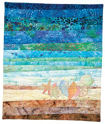 quilt patterns | June embroiders seashells by the seashore.