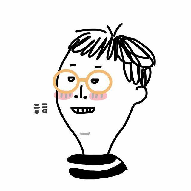 나름 귀엽게 순화한 내얼굴.. #냐냐얼굴 #냐냐그림 #내얼굴그림 #만드는장소 #냥구소