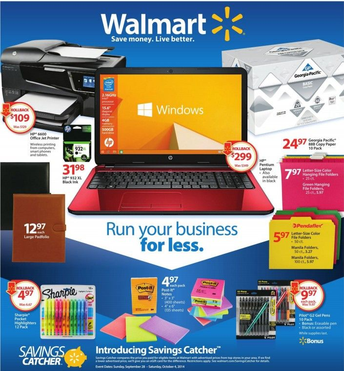 Walmart Ad Sneak Peek For 9/28/201410/04/2014 Some
