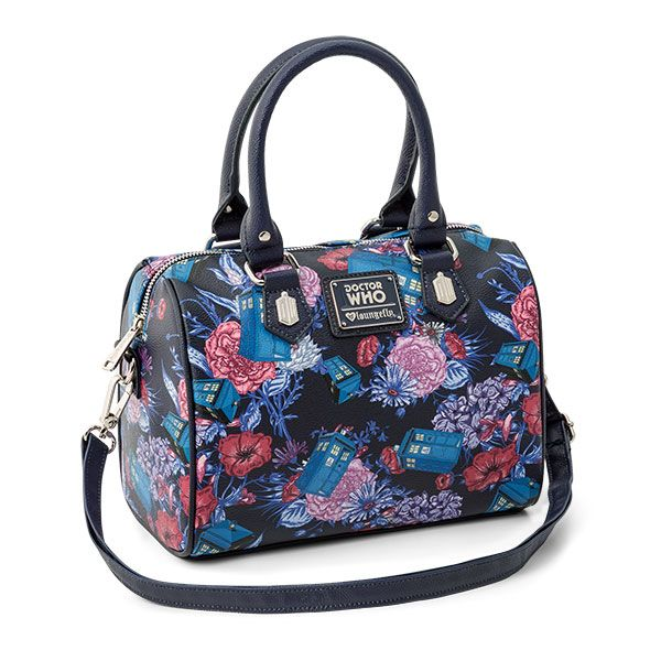 If you're still dealing with money, perhaps you need a way to bring it with you. How about this Doctor Who TARDIS and Flowers Handbag? It features a floral TARDIS design on the outside, plus double handles and a removable shoulder strap for versatility.
