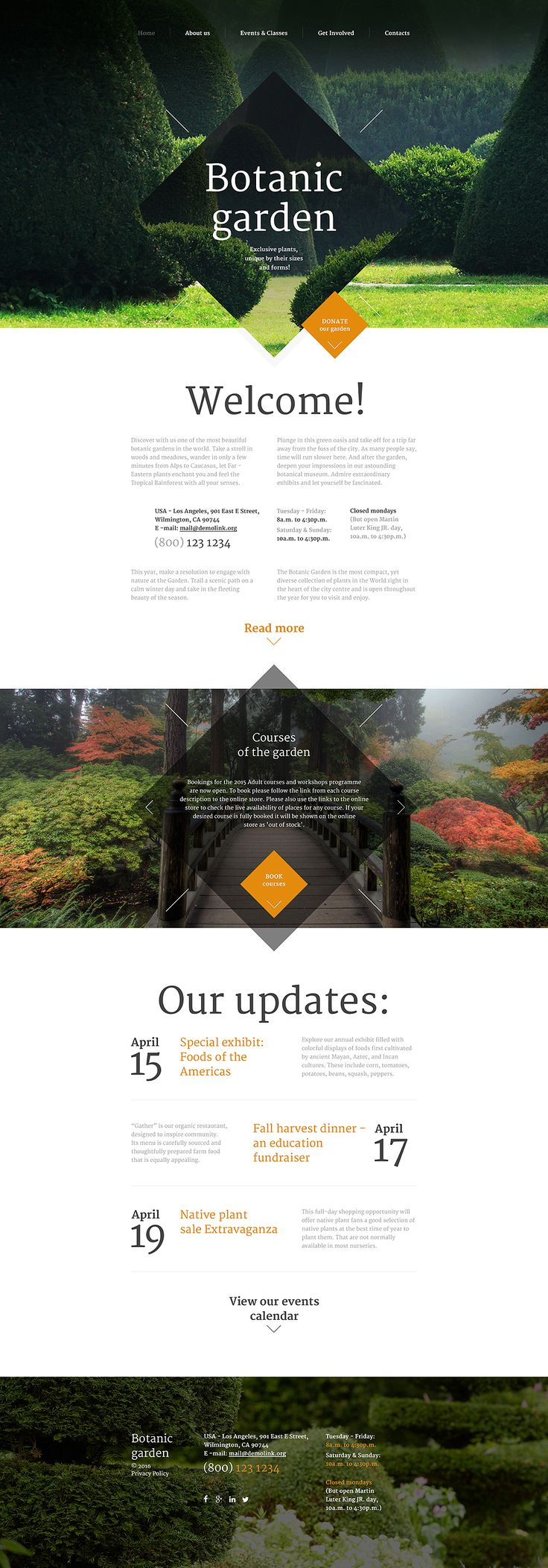 Botanic Garden Website Template